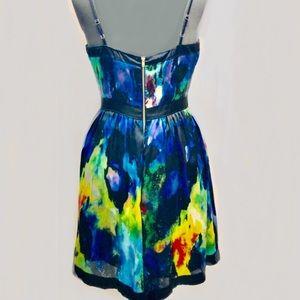 Matty M Dresses - Marty M Watercolor Print Strapless Dress